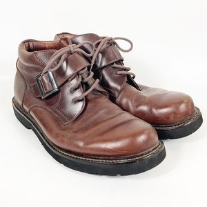 Florsheim Buckle Lace Up Low Leather Boots